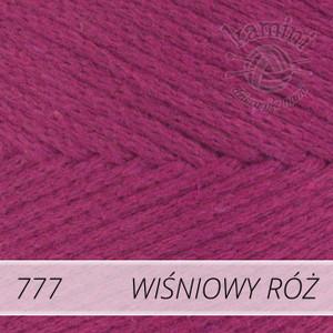 Macrame Cotton 777 wiśniowy róż