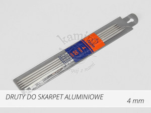 Druty do skarpet aluminiowe 4,0mm Apple