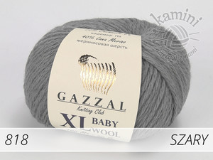 Baby Wool XL 818 szary