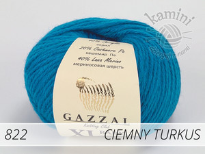 Baby Wool XL 822 ciemny turkus