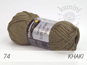 Soft Linen Mix 74 khaki