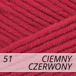 Jeans Plus 51 ciemny czerwony