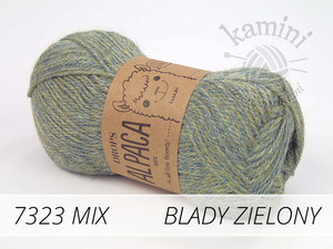 Alpaca Mix 7323 blady zielony