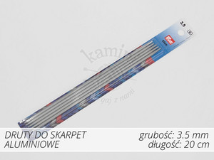 Druty do skarpet aluminiowe 3,5mm Prym