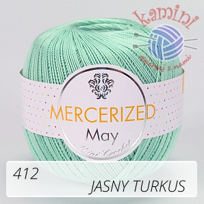 Mercerized Mini Crochet 412 jasny turkus