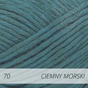 Soft Linen Mix 70 ciemny morski