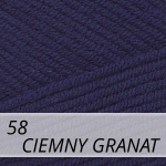 Cotton Gold 58 ciemny granat
