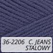 Kotek 36-2206 ciemny jeans / stalowy