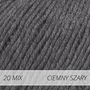 Baby Merino Mix 20 ciemny szary