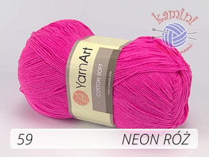 Cotton Soft 59 neon róż