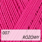 Mercerized Mini Crochet 007 różowy