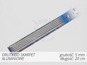 Druty do skarpet aluminiowe 5,0mm Prym