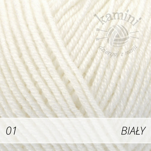 Baby Merino 01 biały