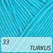 Jeans 33 turkus