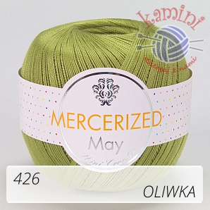 Mercerized Mini Crochet 426 oliwka