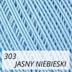 Mercerized Mini Crochet 303 jasny niebieski