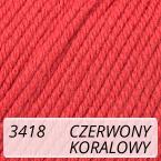Baby Cotton 3418 czerwony / koralowy