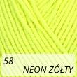 Jeans 58 neon żółty