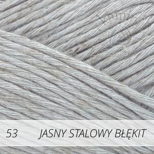 Soft Linen Mix 53 jasny stalowy błękit