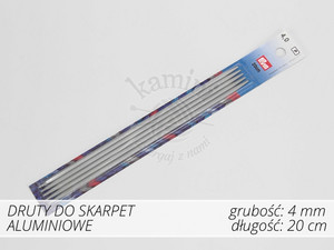 Druty do skarpet aluminiowe 4,0mm Prym