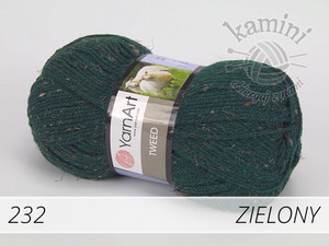 Tweed 232 zielony