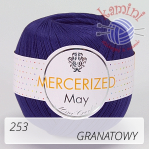 Mercerized Mini Crochet 253 granatowy