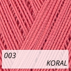 Mercerized Mini Crochet 003 koral