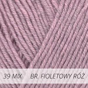 Baby Merino Mix 39 brudny fioletowy róż