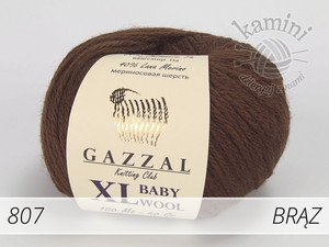 Baby Wool XL 807 brąz