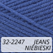 Kotek 32-2247 jeans / niebieski