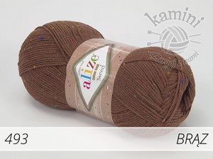 Cotton Gold Tweed 493 brąz