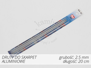 Druty do skarpet aluminiowe 2,5mm Prym