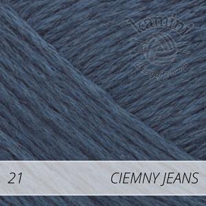 Bomull-Lin 21 ciemny jeans