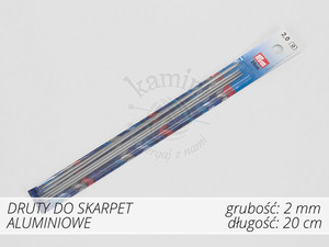 Druty do skarpet aluminiowe 2,0mm Prym