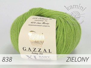 Baby Wool XL 838 zielony