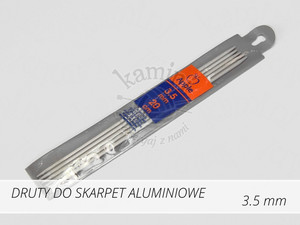Druty do skarpet aluminiowe 3,5mm Apple