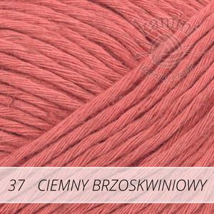 Soft Linen Mix 37 ciemny brzoskwiniowy