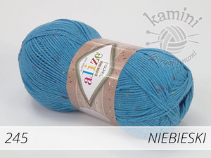 Cotton Gold Tweed 245 niebieski