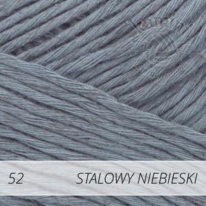 Soft Linen Mix 52 stalowy niebieski