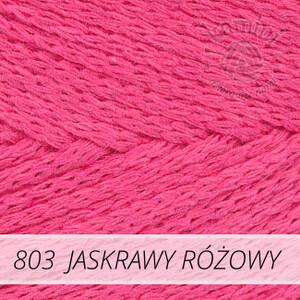 Macrame Cotton 803 jaskrawy różowy