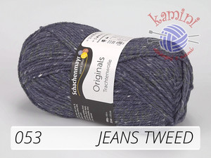 Trachtenwolle 053 jeans tweed