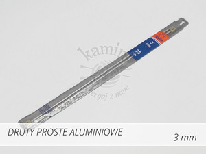 Druty proste aluminiowe 3,0mm Apple