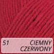 Jeans 51 czerwień malinowa
