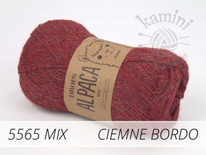 Alpaca Mix 5565 ciemne bordo
