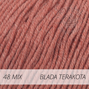 Baby Merino Mix 48 blada terakota
