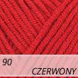 Jeans 90 czerwony