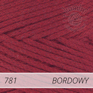 Macrame Cotton 781 bordowy