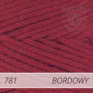 Macrame Cotton 781 bordowy