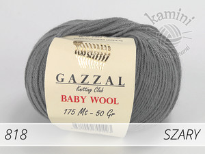 Baby Wool 818 szary