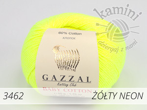 Baby Cotton 3462 żółty neon